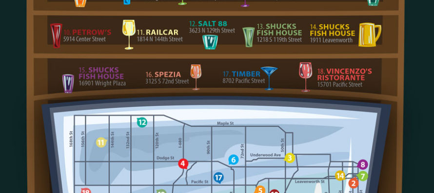 2017 Omaha Happy Hour Map