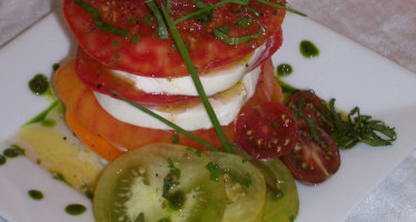 Allez Cuisine! Heirloom Tomato & Fresh Mozzarella Tower Recipe