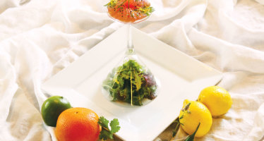 Rediscovering an Old World: Tuna Carpaccio with Spicy Asian Citrus Drizzle